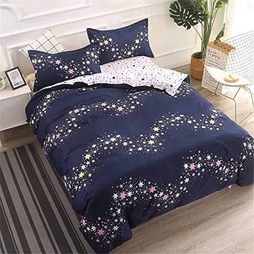 YUNSW Bettbezug Mode Tröster/Quilt/Decke Fall Twin Voll Königin König Student Schlafsaal Bettwäsche D 180x220 cm -