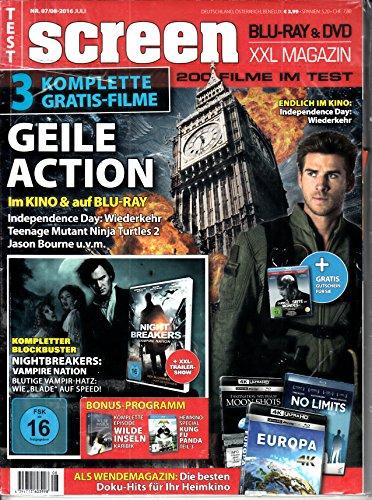 Screen 7-8 2016 Independence Day Teenage Mutant Ninja Turtles Zeitschrift Magazin Einzelheft Heft