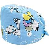 Cloudkids Sombrero Enfermera para Hombres y Mujers Ajustable Estampado Animal Sombrero Quirófano Dentista Reutilizable Robin