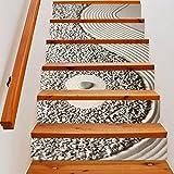3D Selbstklebende Treppen Wandaufkleber Kreative Dekorative Aufkleber DIY Kunst Wand Abnehmbare Treppen PVC Wasserdichte Tapete Für Wohnzimmer Dekoration Sandkarte Treppenaufkleber,100*18cm*6pcs