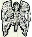 Iron on Bügel Adler Skull Patch-Aufnäher-Applikation-Patches-Sticker-ei groß Jeans-Jacke-n Adler Skull 26 x 22 cm
