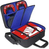 Housse de protection pour console PS5 avec bandoulière et compartiments séparables pour accessoires et jeux