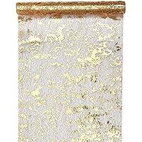 Santex 4721 Chemin de Table Fantaisie Brillant Polyester Or