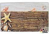 matches21 Badezimmerteppich Badeteppich Badematte Sommer Strand & Treibholz 60x100x1,0 cm rechteckig maschinenwaschbar