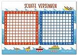 Schiffe Versenken Block - 50 Blatt Spielblock - Reisespiel für Jungen und Mädchen aus Papier - Das Flottenmanöver Mitbringspiel - Von Sophies Kartenwelt