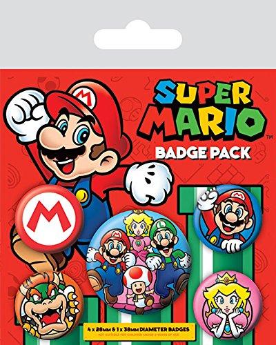 Super Mario Spilla Pin Badges 5 Pack Pyramid International - Game Party Pin