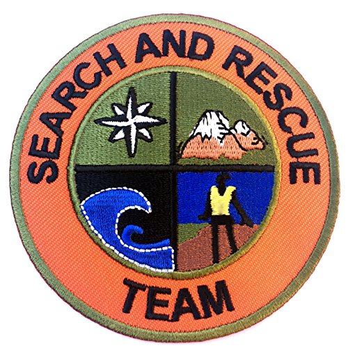 Suche und Rettung Team Patch 8 cm Embroidered Iron on Badge Aufnäher Mountain Support Coast Guard Air Fancy Kleid Kostüm Shirt-Hubschrauber Bag Jacke