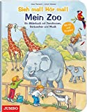 Sieh mal! Hör mal! Mein Zoo / Buch mit CD: Ein Bilderbuch mit Tierstimmen, Geräuschen und Musik