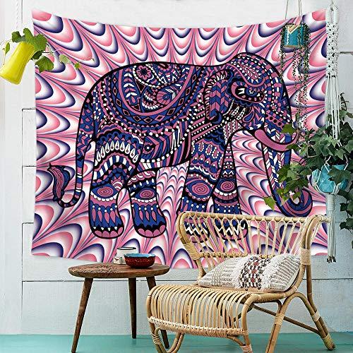 mubgo Tapiz Tapiz Tapiz De Elefante Tapiz De Pared Hippie Rosa Y Morado Mantel Grande Tapiz De Dormitorio Hippie Indio Bohemio 150x200cm