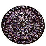 YWLINK Durable Antideslizante Creativa Notre Dame, Foto Conmemorativa, DecoracióN CóModa para El Hogar, Alfombras Regalo para La Familia