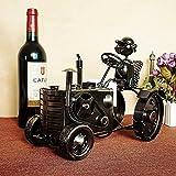 xzlxty Wine Rack antiken Beschichtung schwarz Traktor Bügeleisen Home Decoration