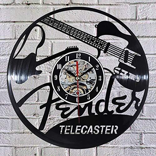 CHANGWW Rekord Wanduhr Neue Schallplatte Design Wanduhr TV-Sender Musikzimmer Wanduhr Quarz Mechanismus schwarz Schallplatte Uhr