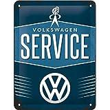 Nostalgic-Art 26184 Plaque Vintage Volkswagen Service – Idée de Cadeau pour Les Fans de VW, en métal, Design Retro pour la dé