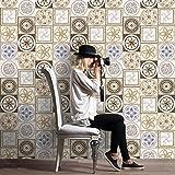 JY ART AYZ Fliesenaufkleber Dekorative Wandgestaltung mit Fliesenaufklebern für Küche und Bad, Deko-Fliesenfolie für Küche u. CZ008, 20cm*5m