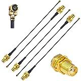 YILIANDUO Mini PCI UFL a SMA Conector Hembra Antena WiFi Pigtail Cable IPX a SMA Extensión 15cm Paquete de 5
