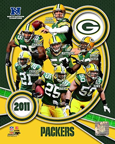 Green Bay Packers 2011 NFC North Division Champions Team Composite Photo Print (20,32 x 25,40 cm)