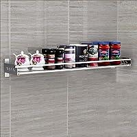 Étagère de cuisine Étagère à épices murale en acier inoxydable 304 Étagère de rangement multifonction à domicile…