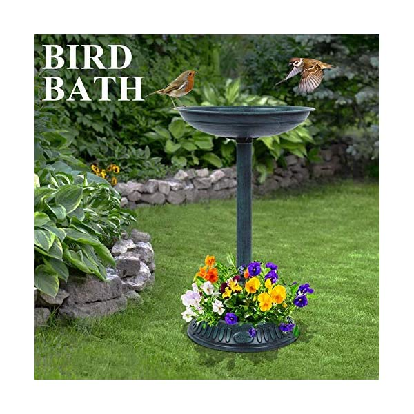 OV Mangeoire//baignoire de jardin pour oiseaux
