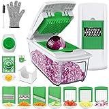 Vegetable Choppers, Vegetable Chopper Food Chopper Cutter Onion Slicer Dicer, Veggie Slicer Manual Mandolin Slicer for Garlic