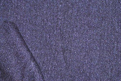 alles-meine.de GmbH 1 m * 1,55 m Stoff XXL Strick - lila Strick Maschen / gestrickt - Strickstoff zum Nähen Maschenstoff (Lila Strick-stoff)