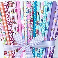 Toujours à tricoter et à coudre–20pièces en polycoton Lot de papillons fleurs & tissus à pois 25cm x 25cm