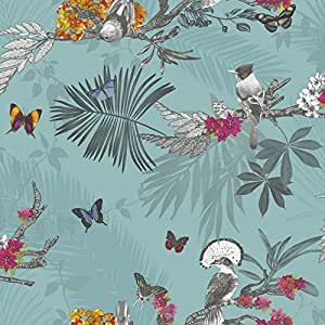 arthouse 664801 mystical forest wallpaper teal 53 cm x