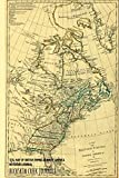 """1774 Map of British Empire in North America - Notebook/Journal: 6""""x9"""" Journal Ruled - 100 Pages"""