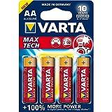 Varta Max Tech Batterie AA Mignon Alkaline Batterien LR6 - 4er Pack