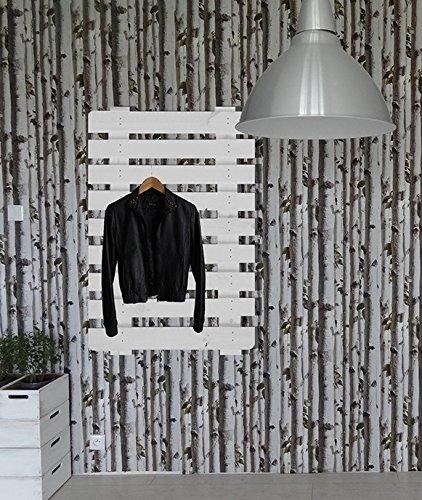 Pallet in legno bianco appendiabiti appendiabiti da parete Scarpiera
