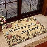 XL68chao Teppiche tragen Fußmatte Eingangstür Willkommen Zuhause Teppich Rechteck Schlafzimmer Nachtmatte Anti-Rutsch-Matte saugfähig
