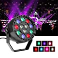 Stage Lights ,Chenci 15W 12LED DMX-512 RGB LED High Power Stage Color Mixing Par Light for KTV Xmas Party Wedding Show Club Pub Color Changing Lighting by Chenci
