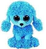TY 36851 Mandy, Pudel mit Glitzeraugen, Glubschi's, Beanie Boo's, Plüsch, 15 cm, Blau