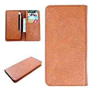 DooDa PU Leather Case Cover For Sony Xperia P (Brown)