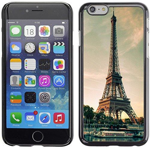 Graphic4You Paris At Night Skyline View Postkarte Ansichtskarte Design Harte Hülle Case Tasche Schutzhülle für Apple iPhone 6 Plus / 6S Plus Design #12
