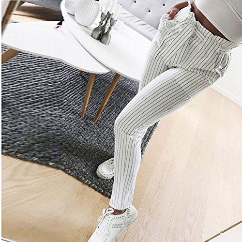 8bc31001c102 Coolster Damen-beiläufige Gestreifte Hohe Taillen-Hosen-Elastische Taillen-beiläufige  Hosen (Dunkelblau, M) bei Die Beste günstig bestellen.