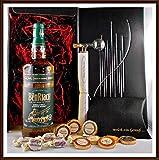 Geschenk Benriach Heart of Speyside Whisky + Flaschenportionierer + 10 Edel Schokoladen Confiserie DreiMeister & DaJa + 4 Whisky Fudge kostenloser Versand