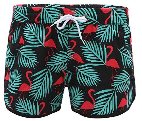Vogue Hosen (La vogue Damen Badeshorts Sommer Shorts Bunte Schwimmen Sport Hose A Größe L)