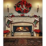 By LussoLiv 7x5ft Christmas Fireplace Photography Backdrop Vinyl - Best Reviews Guide