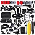 EDOSE Essential Zubehör Bundle für APEMAN Apeman A70 DBPOWER GoPro HERO5 Black GoPro HERO Session SJ Cam Yi 4K Sport Kamera Action Kamera mit Schutzhülle