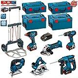 Bosch Kit PSL6M3A (GBH 18 V-EC + GKS 18 V-LI + GWS 18 V-LI + GDX 18 V-LI + GSB 18-2-LI + GST 18 V-LI + 3 x 4,0Ah Li-Ion + 2 L-Boxx 238 + 2 x L-Boxx 136 + Bosch Caddy)