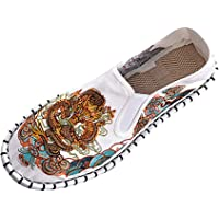 Espadrilles Femme Tendance Mode Pas Cher Slip-on Plates Broderie Dragon Chinois Soldes Chaussures Bateau Escarpins…