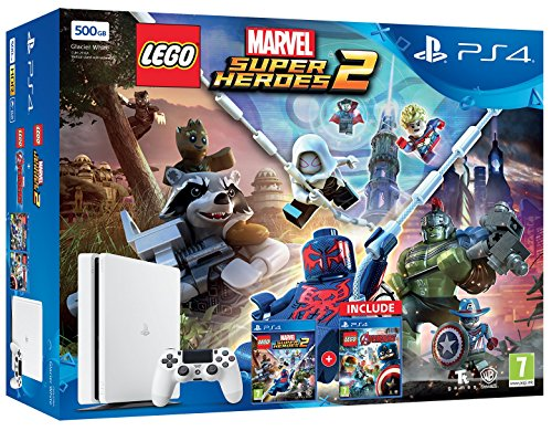 Console Videogames Sony Entertainment PS4 500GB + Lego Marvel Super Heroes 2 + Lego Avengers (Ps4 Hero Lego)