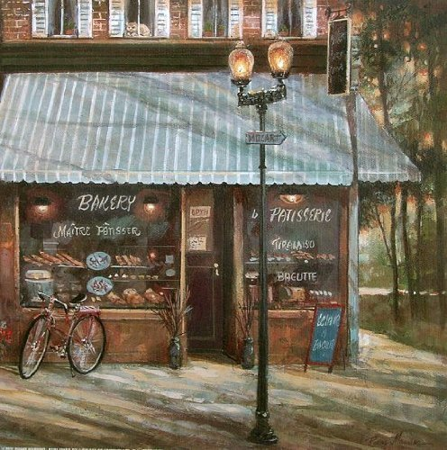 Keilrahmen-Bild -Ruane Manning: Pastry Shop 40 x 40 cm