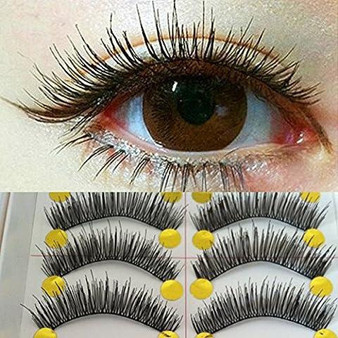 EQLEF® 20 pares de hermosas pestañas falsas hechas a mano falso maquillaje del latigazo del ojo