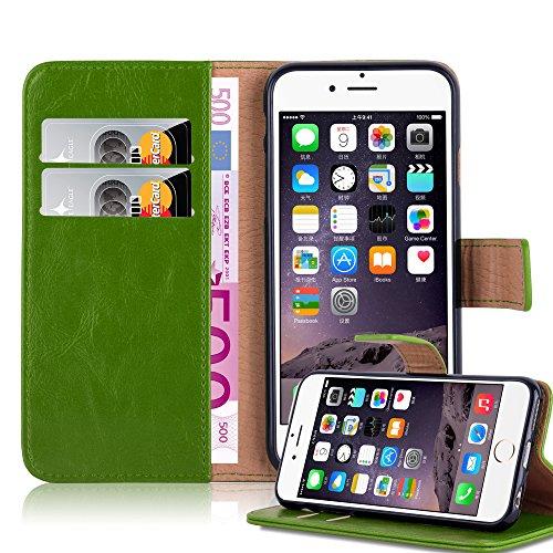 Apple iPhone 6 PLUS Hülle in GRAS-GRÜN von Cadorabo - Handy-Hülle Luxury Design mit Magnet-Verschluss Standfunktion und Karten-Fach Case Cover Schutz-hülle Etui Tasche Book Klapp Style GRAS-GRÜN