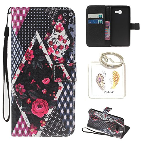 für Galaxy A3 (2016) A310 PU Silikon Schutzhülle Handyhülle Painted pc case cover hülle Handy-Fall-Haut Shell Abdeckungen für Smartphone Samsung Galaxy A3 (2016) A310 + Schlüsselanhänger(/Q) (2) -