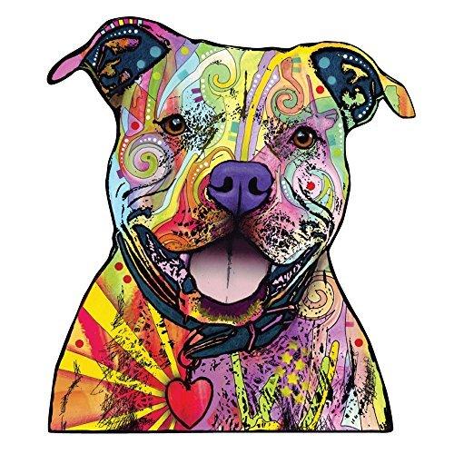 MyWonderfulWalls Beware of Pit Bulls-Wandtattoo Cut Out Animal Pop Art von Dean Russo (99,6cm W x 114,3cm H)