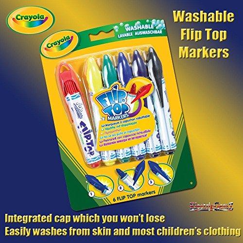 Twistables Marker (b-creative Crayola 6waschbar Klappverschluss Marker Filz Spitze Stifte)