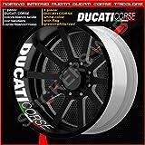Cod. 0224 Adhesivos para llantas de motocicleta Ducati Monster Multistrada Hypermotard, parte interior de la rueda, diseño de rayas, círculos