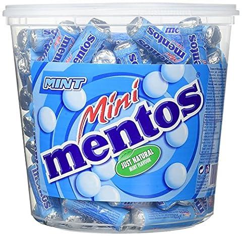 Mini Mentos Mint Classic | Aufbewahrungsbox mit Minz-Dragees | Pfefferminz Geschmack | Eimer mit 120 Rollen (Flavor Rolle Mints)